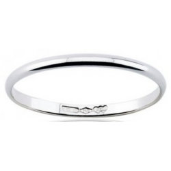 Classic wedding ring half round section