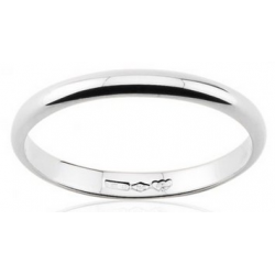 Classic wedding ring half round section 18k