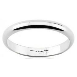 Classic wedding ring half round section 18k