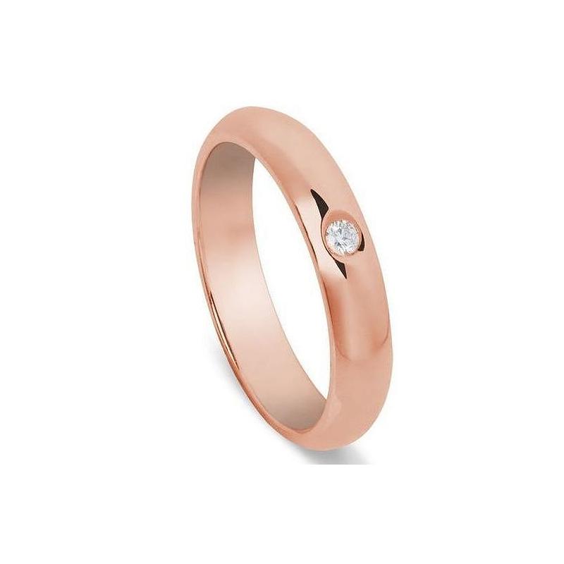 18k Classic wedding ring half round section 18k