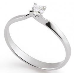 Bague or 18 carats avec diamant 0.16ct
