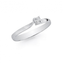 Bague or 18 carats avec diamant 0.09 ct