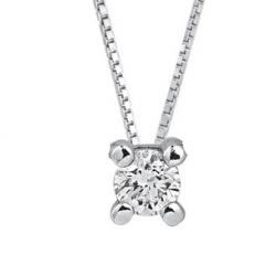Collier classique 18ct avec diamant 10.