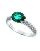 Emerald diamond (s) + 18ct